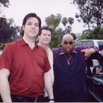 Myself, Mike Turenne and Solomon Burke, Dohenny Fest, California, 2003