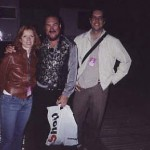 Sue Foley, Steve Cropper, and myself at Bishopstock, Exeter, England 2001