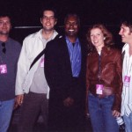 Booker T, Backstage at Bishopstock, Exeter England, 2001
