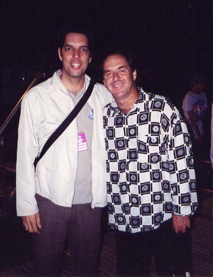 Anton Fig, Backstage at Bishopstock, Exeter England, 2001