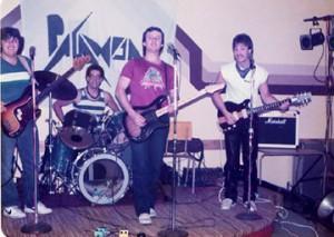 Paranoia 1984 - Jeff Clarke, myself, Mike Lane & Bobby Warren