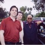 Myself, Mike Turenne and Solomon Burke, Dohenny Fest, California, 2003