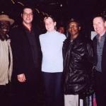 Bob Strogen, Myself, Rachel Jermyn, Willie Big Eyes Smith and Jack DeKeyzer at Blues on Bellair, Toronto 2003