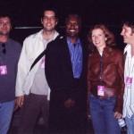 Booker T, Backstage at Bishopstock, Exeter England, 2001