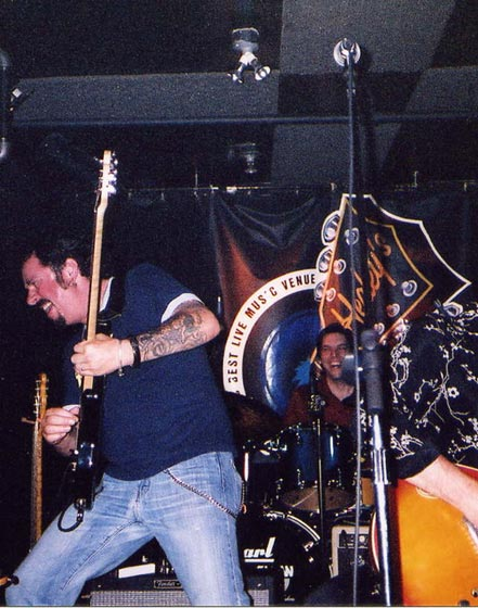 Steve Lukather and myself at Healey's , Toronto, May 2003