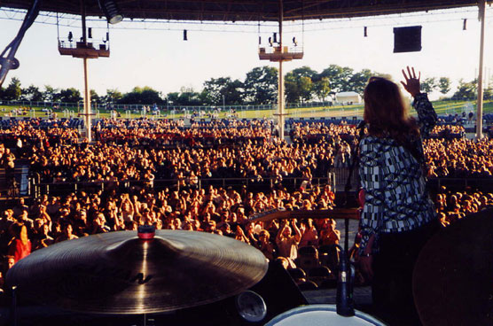 Sue Foley at Molson Ampitheater, Toronto Opening for BB King, Buddy Guy and John Hiatt in 2002