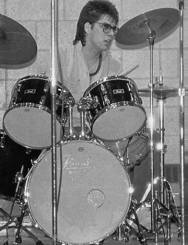 High School on a Pearl Export Drumkit 1985